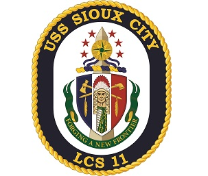 USS Sioux City Committee Card Image
